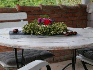 009 Ferienhaus Tisch Terasse