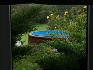 120 Apartment Blick Garten Pool - Kopie